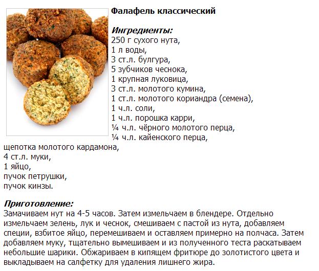 Фалафель из чечевицы рецепт