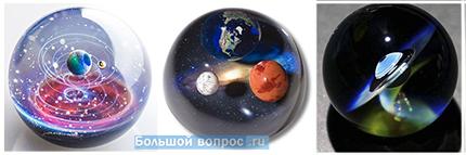 планеты солнечной системы в стекле Сатоши Томизу