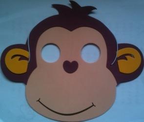 маска обезьяна сделать своими руками