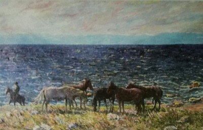 Игнатьев Волны и лошади сочинение описание картины