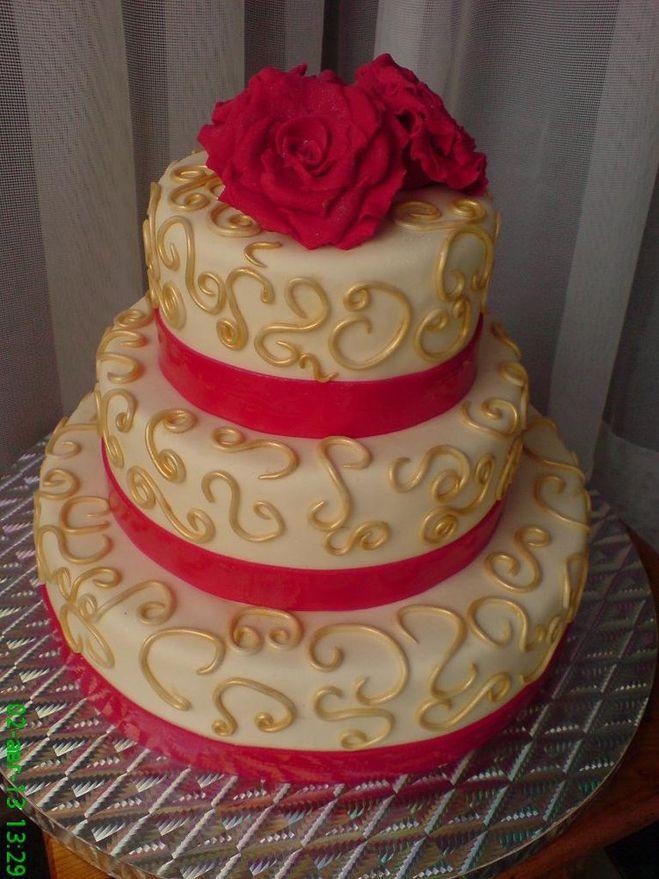 Одноэтажный торт на свадьбу фото