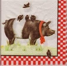 поделка свинка своими руками,картинки для декупажа свинья, кабан, поросенок, поделки к Новому году 2019