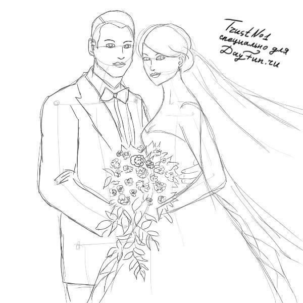 Чтобы нарисовать вот такую прекрасную ...: www.bolshoyvopros.ru/questions/295497-kak-narisovat-nevestu...