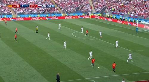 ЧМ-2018 по футболу игра между Россией и Испанией