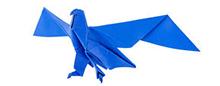 птица в технике оригами