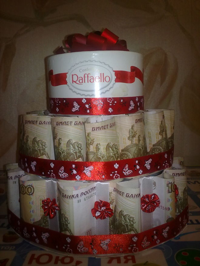 Как сделать каркас для торта из денег