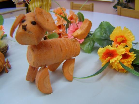 Собачка из овощей своими руками 8