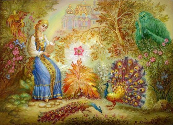 Аленький цветочек. Какие цитаты описывают героев сказки