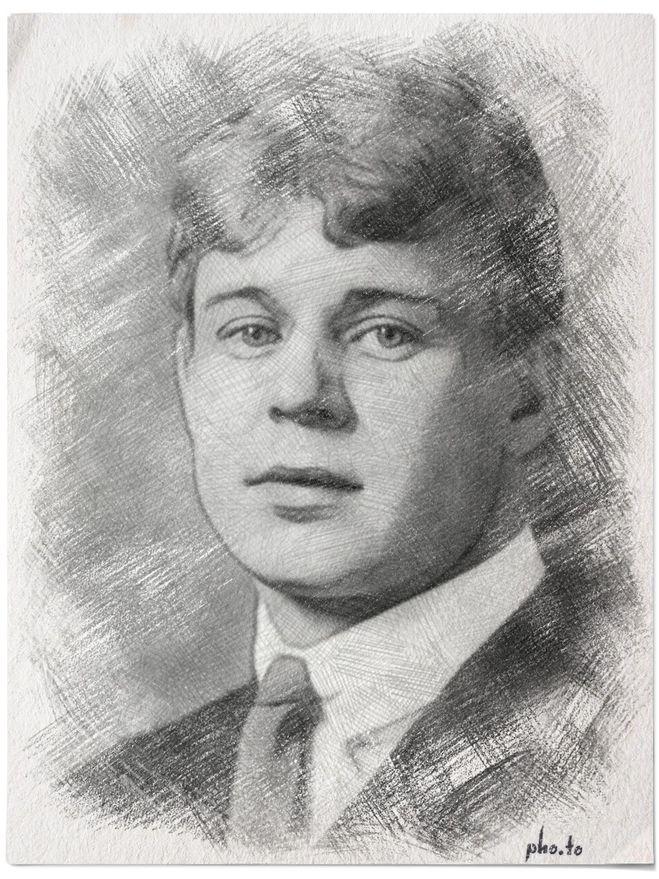 Портрет есенина схема