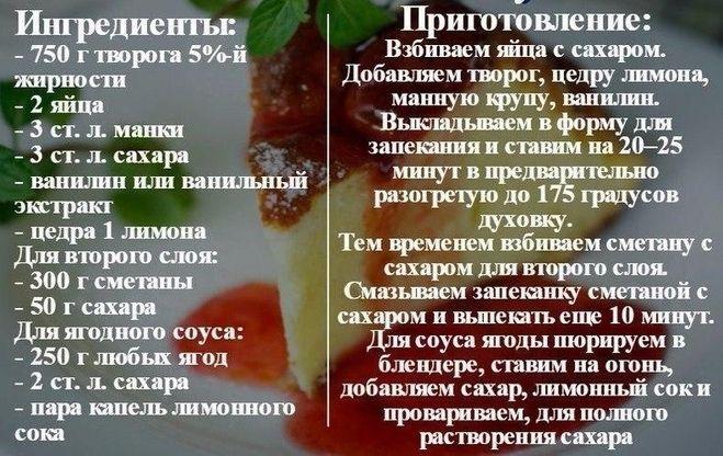Запеканка рецепт из творога классическая