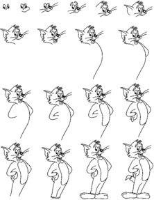 Как нарисовать тома кота