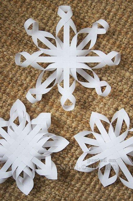 Снежинки из бумаги своими руками видео мастер класс