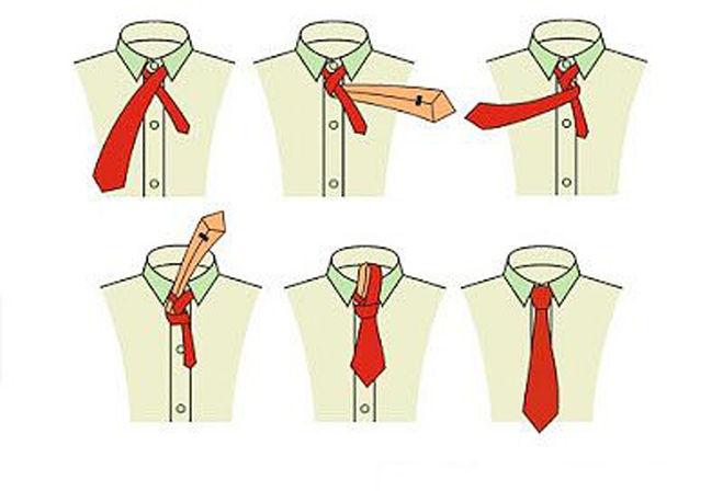 Завязать длинный галстук пошагово