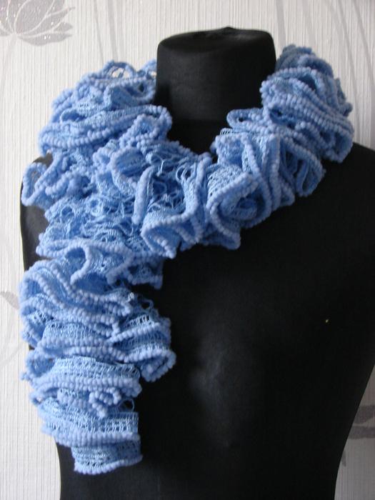 шарфик из пряжи ализе пуффи