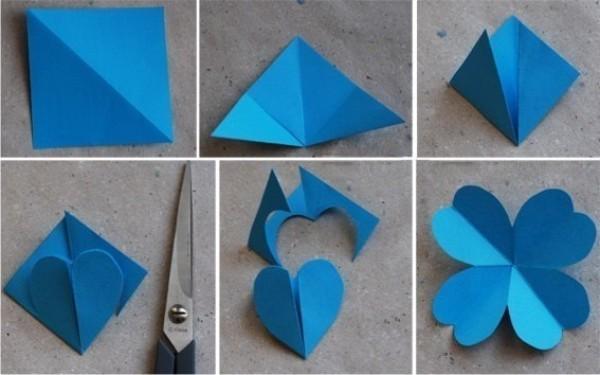 Как сделать цветы из бумаги на открытку своими