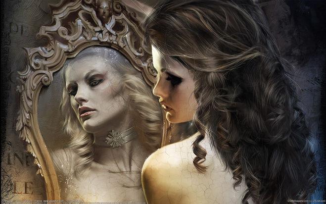 Девушка; Женщина; Зеркало; вода; мысли