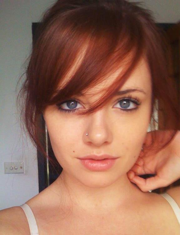 Рыжие волосы серые глаза