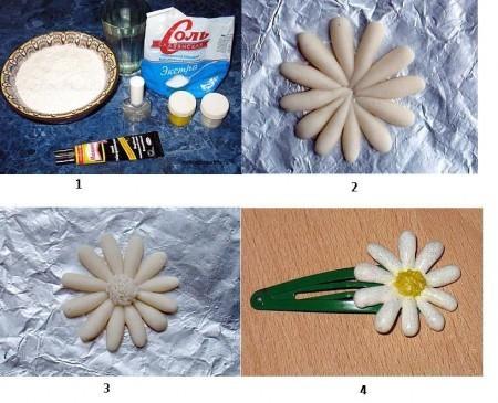 Как сделать цветы из соленого теста