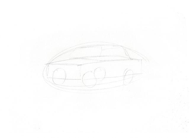 нарисовать ВАЗ 2107 1