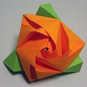 Волшебная роза-трансформер в технике оригами
