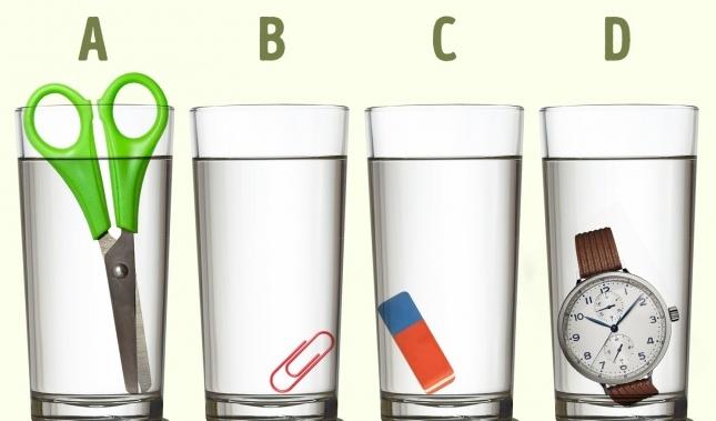 В каком стакане больше воды