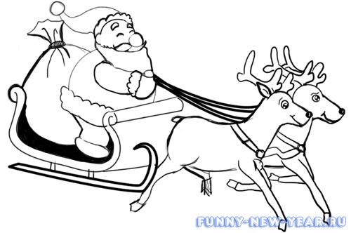 Рисунки для срисовки для новичков на новый год