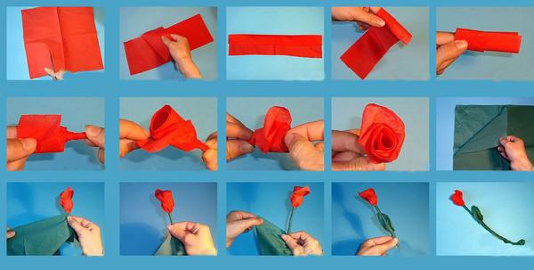 Цветы из бумаги своими руками фото для