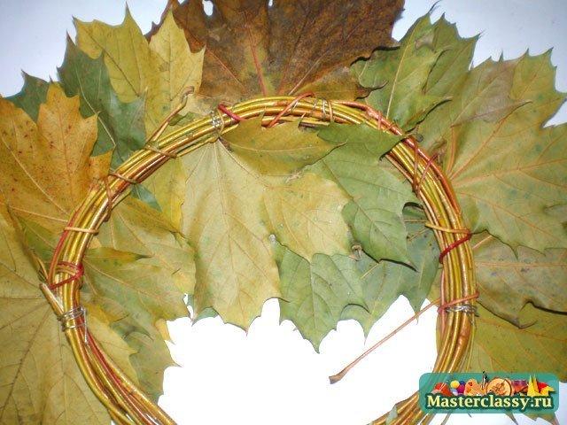 Венки из осенних листьев на голову