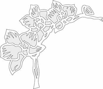 трафареты цветов для вырезания из бумаги скачать бесплатно