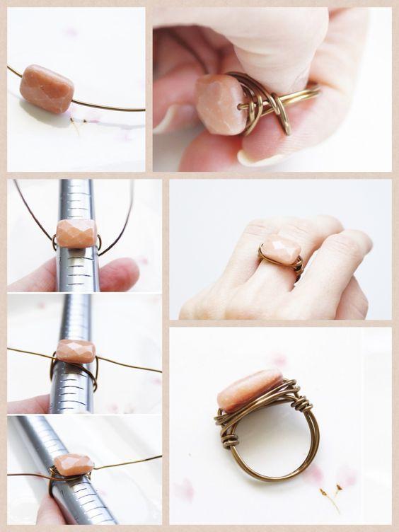 кольцо из проволоки с камушком своими руками мастер-класс