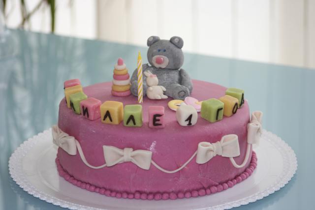 Торт на день рождения ребенку из мастики своими руками