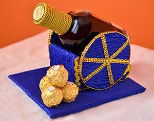 пушка из бутылки и конфет в подарок на 23 февраля
