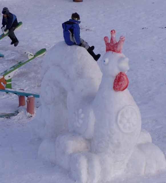 технология лепки снежных фигур