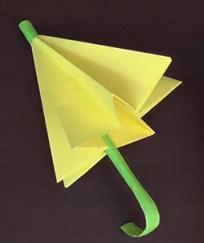 Как сделать зонтик из бумаги и зубочистки