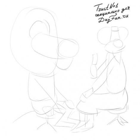 рисунок доктор Айболит карандашом