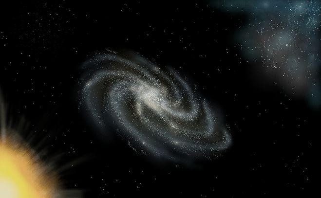 Галактику карандашом поэтапно