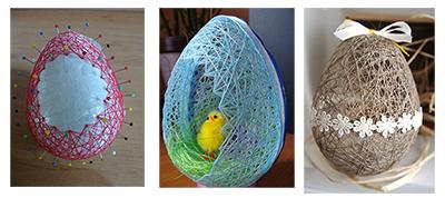 яйца на Пасху из из нитей