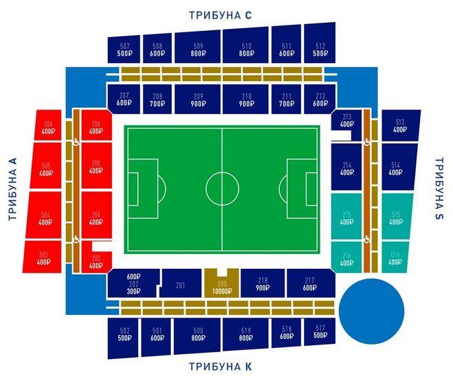 стадион цска веб арена схема мест