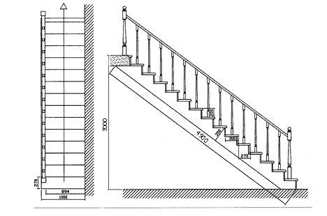Лестница на второй этаж своими руками из дерева с фото