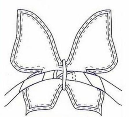 бабочка крылья выкройка