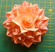 Роза оригами видео