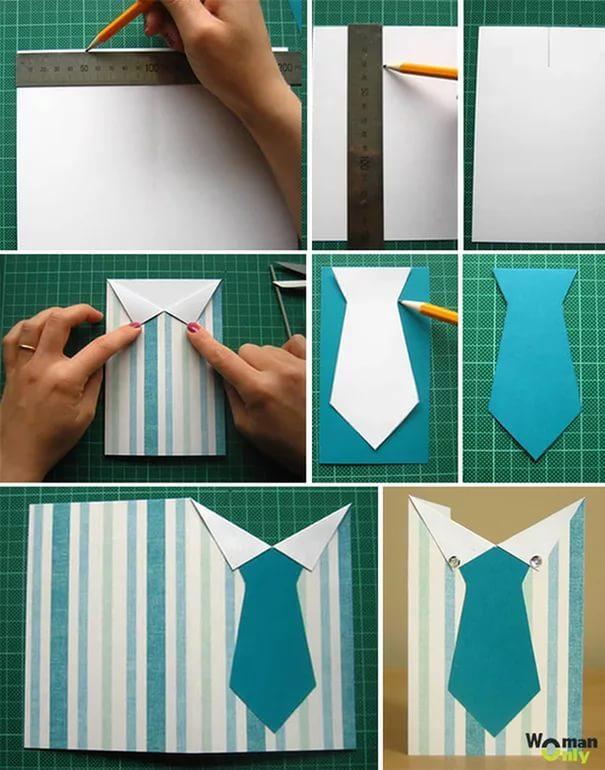 Как сделать открытку из бумаги поэтапно