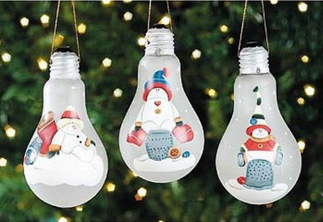 Красивые новогоднее игрушки своими руками