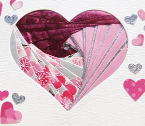 Сердце, валентинка в технике айрис фолдинг
