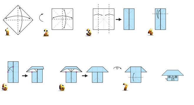 Как сделать оригами из бумаги дом