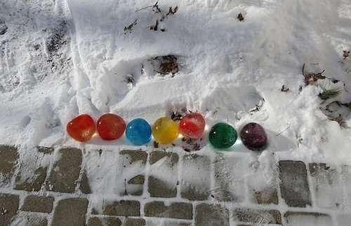 Ледяные шары из воздушных шариков как сделать 5