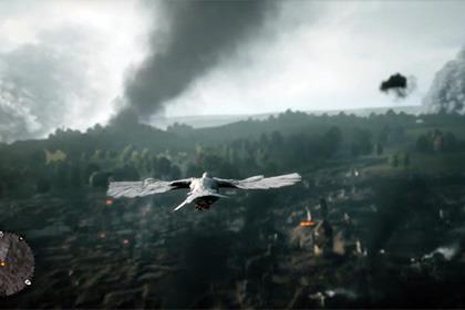 В игре Battlefield 1 можно играть за голубя? Как? В чем смысл этой сцены?