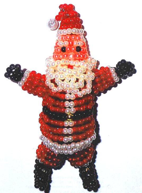 из бисера Дедушки Мороза.