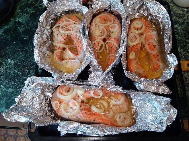 Рыба форель в духовке в фольге рецепт с