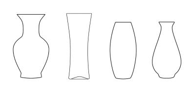 Раскраски ваза для цветов